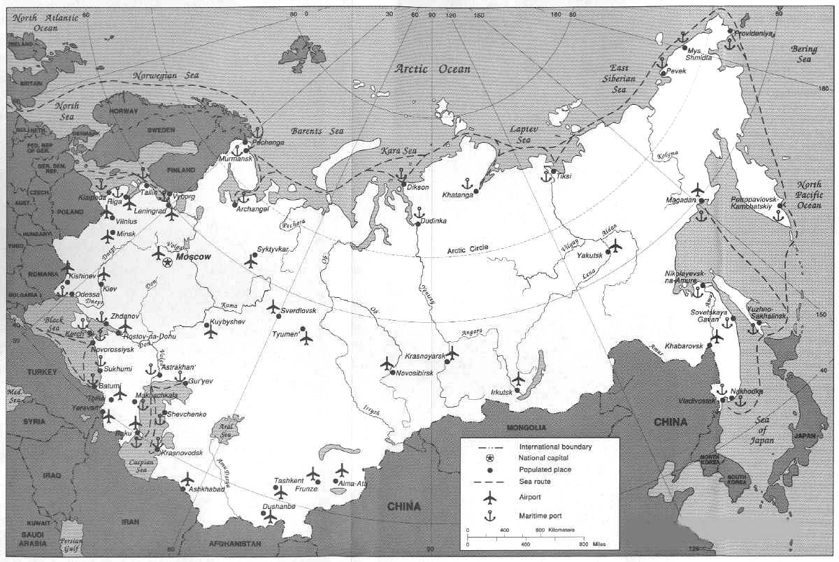 POLI J Reading Schedule - Us and ussr map